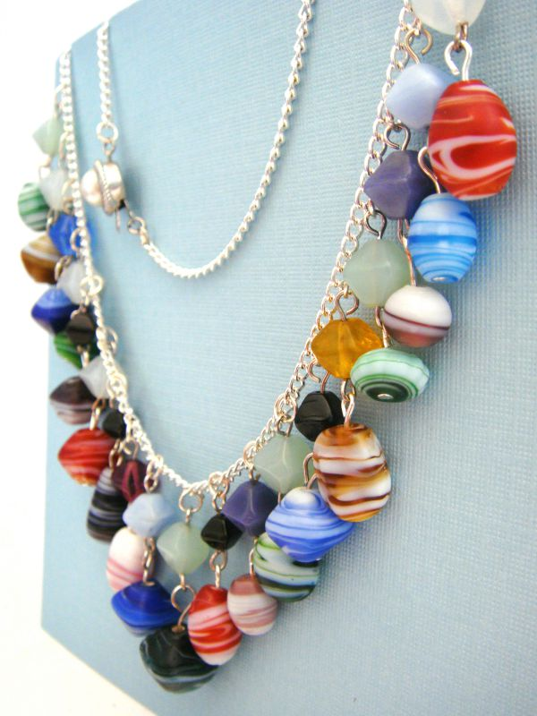 Colourful rocks necklace (3)